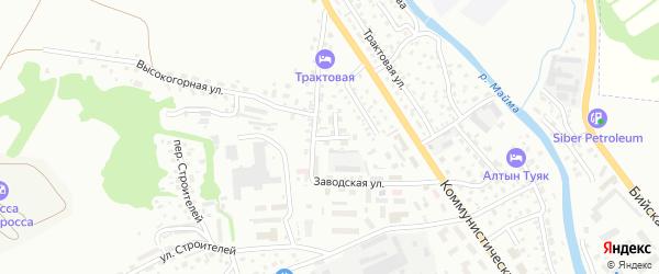 Заводской переулок на карте Горно-Алтайска с номерами домов