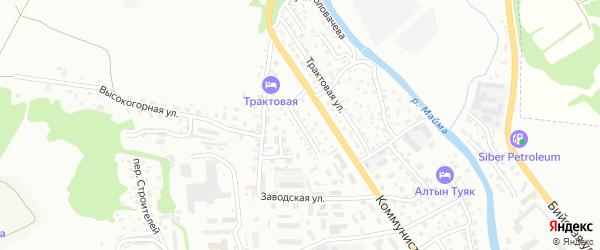 Катунская улица на карте Горно-Алтайска с номерами домов