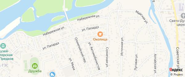 Северный переулок на карте села Майма с номерами домов
