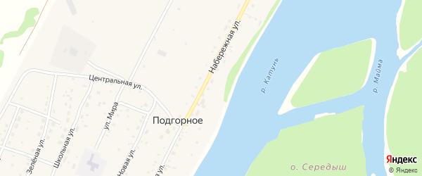 Ягодный переулок на карте Подгорного села с номерами домов