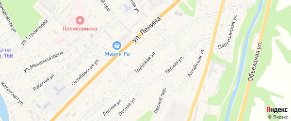 Трудовая улица на карте села Майма с номерами домов