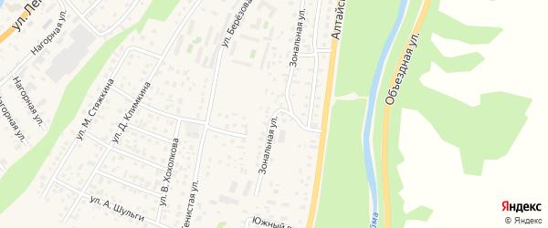 Зональная улица на карте села Майма с номерами домов