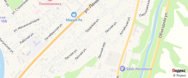 Лесная улица на карте села Майма с номерами домов