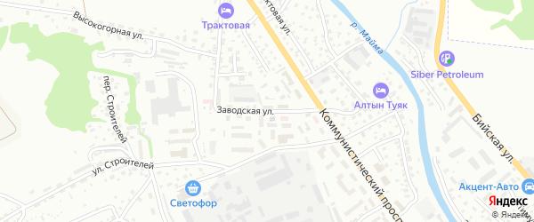 Заводская улица на карте Горно-Алтайска с номерами домов