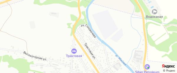 Трактовый переулок на карте Горно-Алтайска с номерами домов