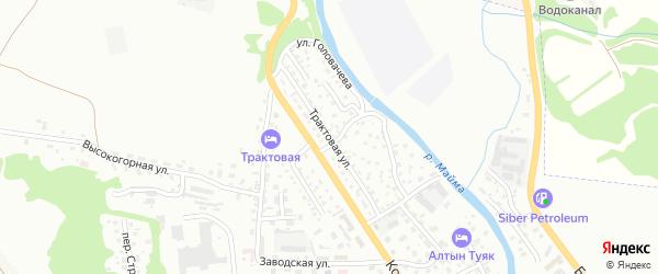 Трактовая улица на карте Горно-Алтайска с номерами домов