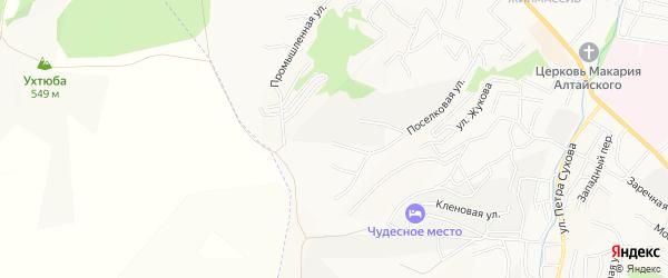 Юбилейное СТ на карте Горно-Алтайска с номерами домов