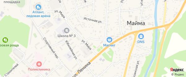 Прохладный переулок на карте села Майма с номерами домов