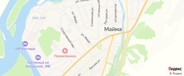 Карта села Майма в Алтае с улицами и номерами домов