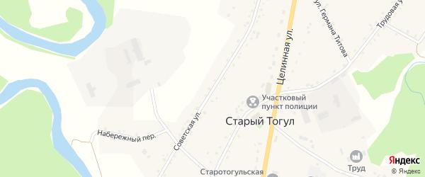 Советская улица на карте села Старого Тогула с номерами домов