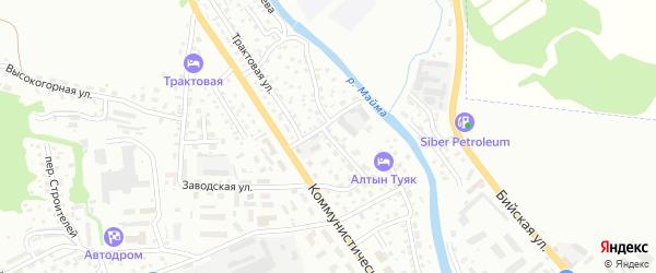 Магистральный переулок на карте Горно-Алтайска с номерами домов