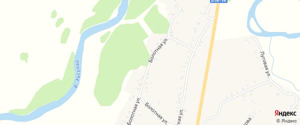 Болотная улица на карте села Старого Тогула с номерами домов