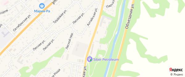 Алтайская улица на карте села Майма с номерами домов