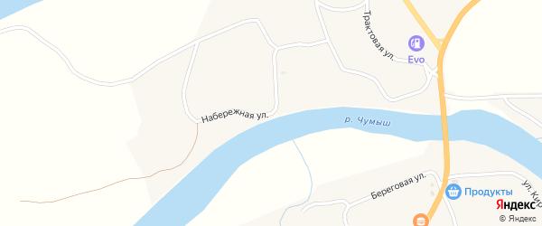 Набережная улица на карте села Мартыново с номерами домов