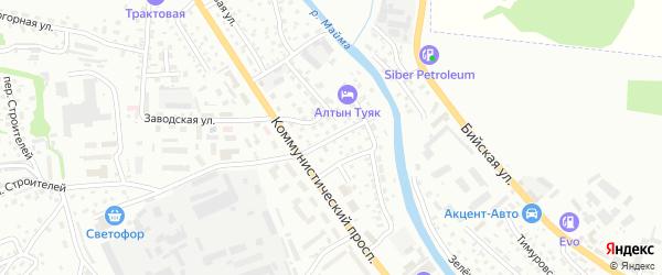 Тихий переулок на карте Горно-Алтайска с номерами домов