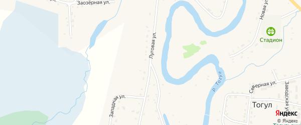Луговая улица на карте села Тогула с номерами домов