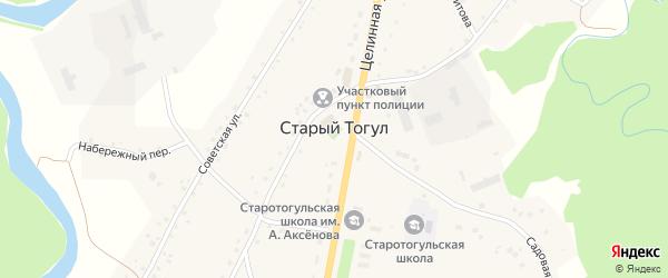 Переулок им Германа Титова на карте села Старого Тогула с номерами домов