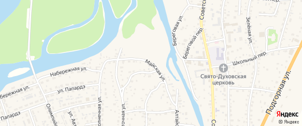 Майская улица на карте села Майма с номерами домов
