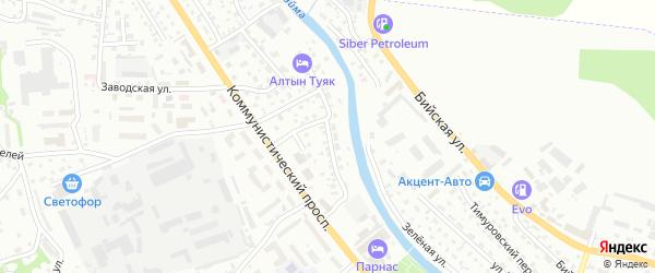 Магистральная улица на карте Горно-Алтайска с номерами домов