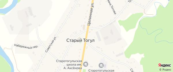 Целинная улица на карте села Старого Тогула с номерами домов