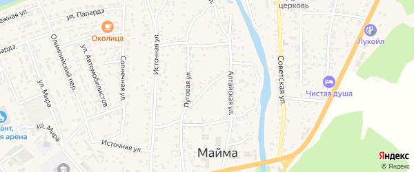 Майминский переулок на карте села Майма с номерами домов