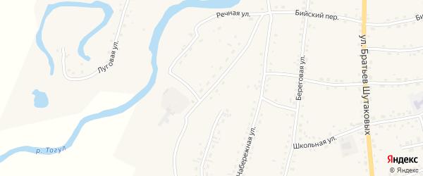 Речная улица на карте села Тогула с номерами домов