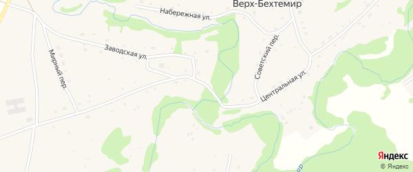 Центральная улица на карте села Верха-Бехтемира с номерами домов