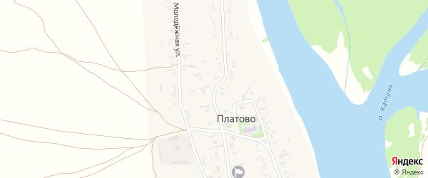 Набережная улица на карте села Платово с номерами домов