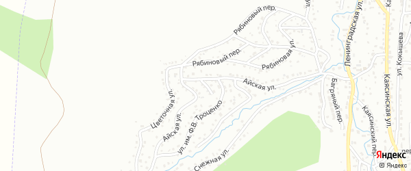 Айский переулок на карте Горно-Алтайска с номерами домов