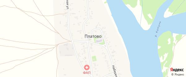 Степной переулок на карте села Платово с номерами домов