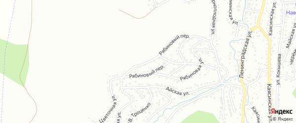 Цветочная улица на карте Горно-Алтайска с номерами домов