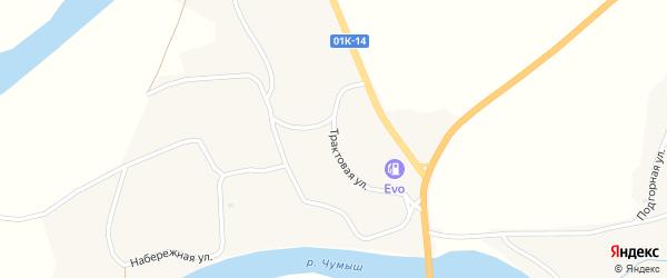 Трактовая улица на карте села Мартыново с номерами домов