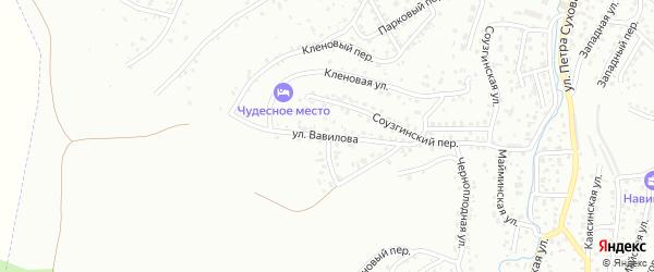 Улица Вавилова на карте Горно-Алтайска с номерами домов