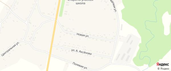 Новая улица на карте села Старого Тогула с номерами домов