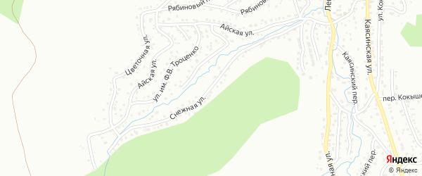 Снежная улица на карте Горно-Алтайска с номерами домов
