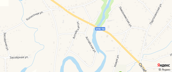 Алтайская улица на карте села Тогула с номерами домов