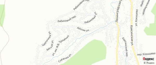 Айская улица на карте Горно-Алтайска с номерами домов