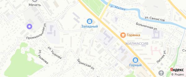 Гранитный переулок на карте Горно-Алтайска с номерами домов