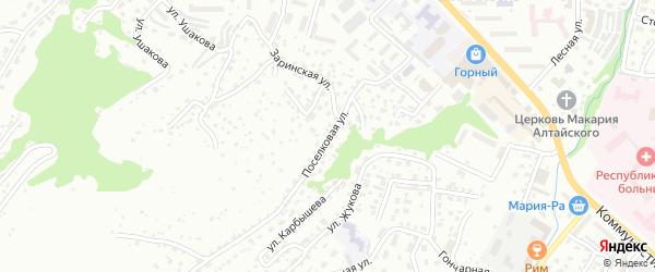 Поселковая улица на карте Горно-Алтайска с номерами домов
