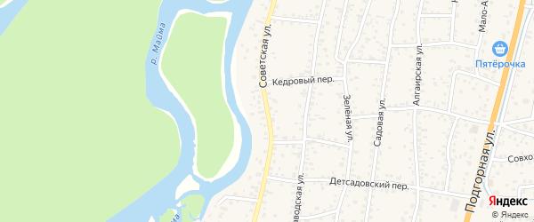 Советская улица на карте села Майма с номерами домов