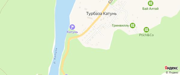 Молодежная улица на карте села Турбазы Катунь с номерами домов
