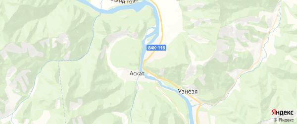 Карта Актельское сельского поселения республики Алтай с районами, улицами и номерами домов