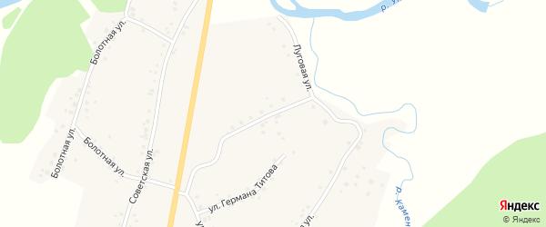 Луговая улица на карте села Старого Тогула с номерами домов