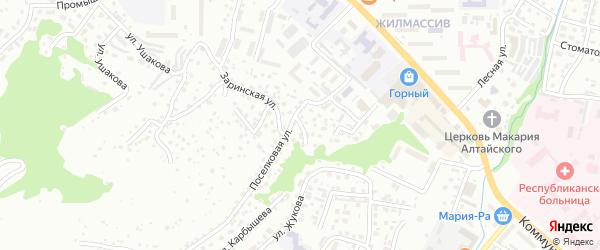 Белый переулок на карте Горно-Алтайска с номерами домов