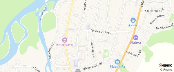 Геологический переулок на карте села Майма с номерами домов