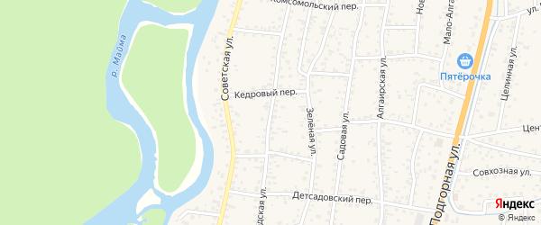 Заводская улица на карте села Майма с номерами домов