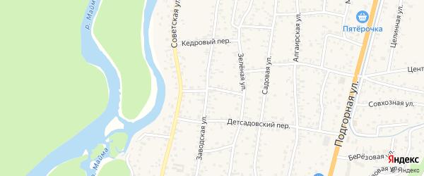 Парковый переулок на карте села Майма с номерами домов