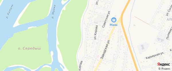 Улица Кирова на карте села Майма с номерами домов