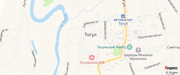 Заводская улица на карте села Тогула с номерами домов