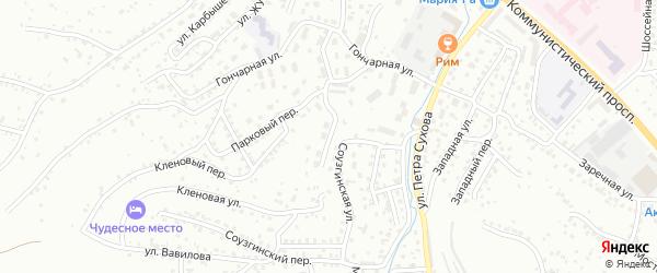 Сибирский переулок на карте Горно-Алтайска с номерами домов